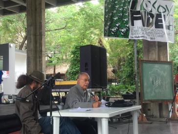 Fernando Martínez Heredia aus Kuba bei seinem Vortrag