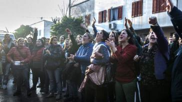 Frauen protestieren gegen ihre Entlassung durch PepsiCo in Argentinien