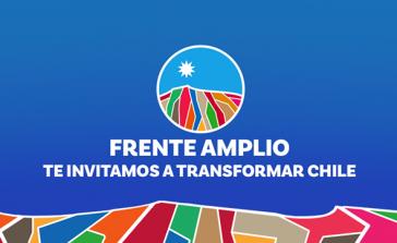 Logo des neuen Linksbündnisses in Chile, Frente Amplio