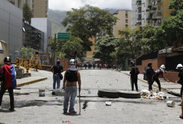 Gewalttätige Demonstranten der Opposition in Venezuela