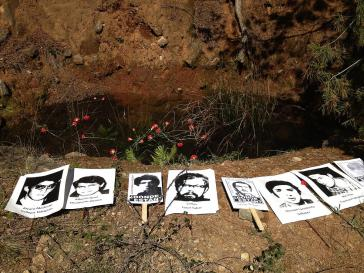 Eines der Massengräber der Colonia Dignidad, in dem Überreste von gewaltsam Verschwundenen der Militärdiktatur in Chile gefunden wurden