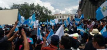 Mobilisierungen gegen Korruption und Immunität in Guatemala
