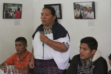 Die Zeugin und Nebenklägerin Choc bei ihrer Aussage gegen den mutmaßlichen Mörder ihres Mannes