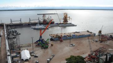 Hafen Nueva Palmira in Uruguay