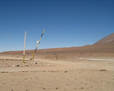 """Grenzübergang """"Hito Cajón"""" (Portezuelo del Cajón) von Bolivien nach Chile"""