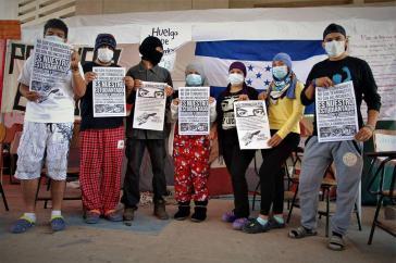 Studierende der Nationalen Autonomen Universität Honduras protestieren mit einem Hungerstreik gegen ihre Kriminalisierung und Missstände an der Hochschule