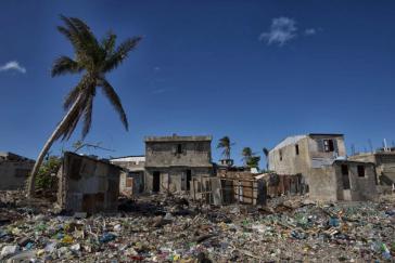 Zerstörungen im Bezirk Jérémie, Haiti, nach dem Hurrikan Matthew im Jahr 2016