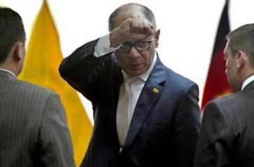 Jorge Glas, der Vizepräsident von Ecuador, beim Verlassen des Gerichtssaales am Mittwoch