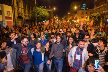"""Jorge Sharp vom """"Movimiento Autonomista"""" (Autonome Bewegung) wurde im Oktober 2016 zum Bürgermeister von Valparaíso gewählt"""