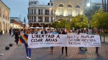 Angehörige demonstrierten für die Freilassung von César Arias