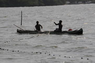 Fischer an der Karibikküste von Kolumbien