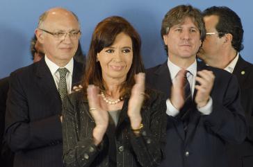 Fernańdez und Timerman (links) bei einer Veranstaltung in Argentinien