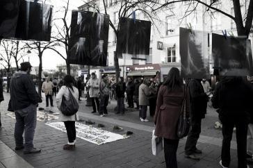 Gedenken an Opfer des Konfliktes in Kolumbien und die Falsos-Positivos-Morde von Kolumbien