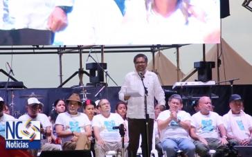 Ex-Guerillero Iván Márquez bei einer Konferenz der Farc in Kolumbien