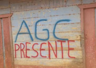 """Warnung der Paramilitärs: """"Hier ist die AGC"""""""