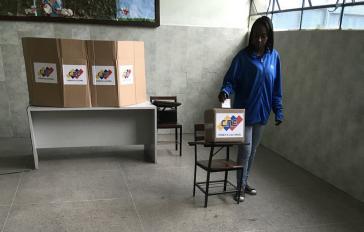 In einem der Wahllokale in La Rinconada, einem Stadtteil der Hauptstadt von Venezuela, Caracas