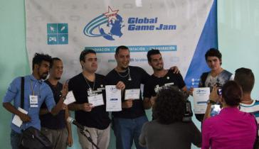 """Das kubanische Team """"Green Rune Studios"""" gewann den Preis für """"Bestes Game Play"""" für sein Spiel """"Lost Jammers"""""""