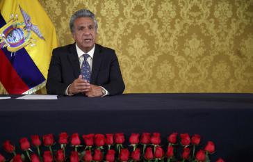 Der Präsident von Ecuador, Lenín Moreno, bei der Vorstellung seines Wirtschaftsplanes am 28. Juli