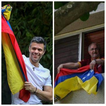 Die Preisträger Leopoldo López (li.) und Antonio Ledezma stehen unter Hausarrest