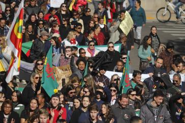 In ganz Brasilien streikten die Menschen