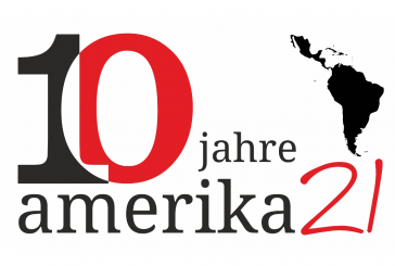 Logo 10 Jahre amerika21