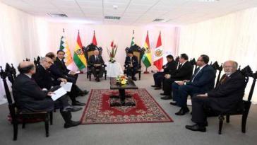 Pedro Pablo Kuczynski und Evo Morales trafen sich am 1. September, um über die Errichtung eines bolivianischen Hafens in Peru zu diskutieren