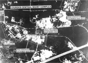 Historische Aufnahme der sowjetischen Basis in Lourdes, Kuba