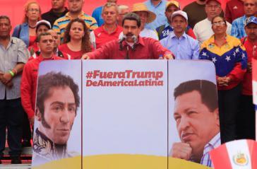 Der Präsident von Venezuela, Nicolás Maduro, bei seiner Rede am Montag