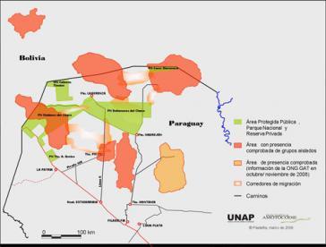 Gebiete der Ayoreo in Paraguay und Bolivien