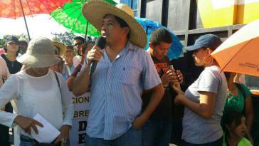 """Martín Fernández, Generalkoordinator der Menschenrechtsorganisation """"Breite Bewegung für Würde und Gerechtigkeit"""" aus Honduras"""