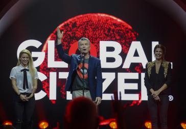 """Der Präsident von Argentinien, Mauricio Macri, beim """"Global Citizen Festival"""", einem Beiprogramm des G20-Gipfels im Juli in Hamburg"""