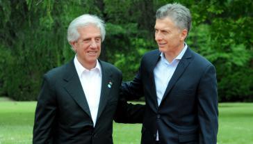 ... und ebenso mit Argentiniens Staatschef Mauricio Macri