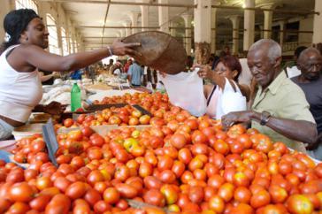 "Auf dem Markt ""La Palma"" in Havanna"
