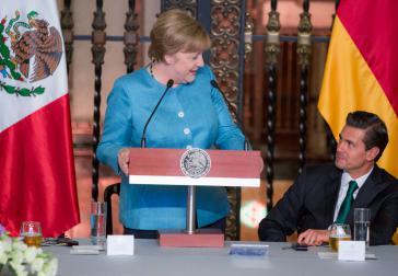 Bundeskanzlerin Angela Merkel und Mexikos Präsident Enrique Peña Nieto wollen ein Freihandelsabkommen zwischen der Europäischen Union (EU) und Mexiko