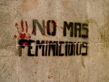 """Keine Frauenmorde mehr"" – Graffito in Mexiko"