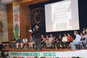 Vertreter sozialer Organisationen in Mexiko-Stadt