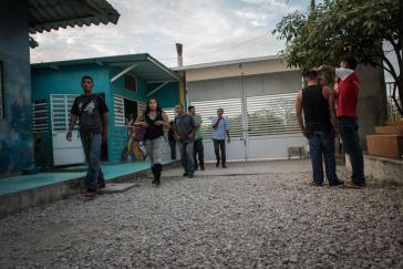 Flüchtlinge aus Zentralamerika bei ihrer Ankunft in Mexiko