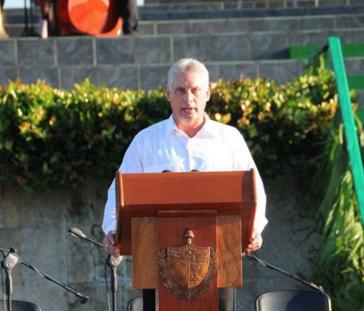 Kubas Erster Vizepräsident Miguel Díaz-Canel bei der Gedenkveranstaltung in Santa Clara