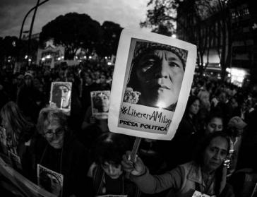 Milagro Sala ist seit Januar 2016 in Juyuy, Argentinien inhaftiert