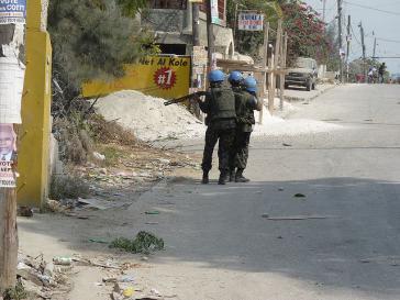 Minustah-Soldaten in Haiti. Von Beginn an unbeliebt
