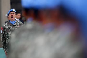 Blauhelme der Minustah, hier aus Peru, stehen in Haiti seit Jahren in der Kritik