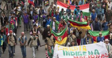 Die Indigene forderten die Regierung von Kolumbien auf, getroffene Vereinbarungen umzusetzen