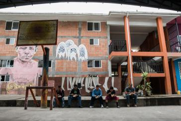 Migranten pausieren in einer Unterkunft in Tenosique, Mexiko rund 70 Kilometer von der guatemaltekischen Grenze entfernt.