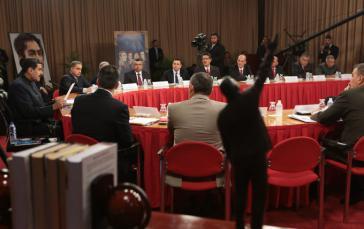 In ständiger Sitzung bis zur Wahl der Kandidaten zur verfassunggebenden Versammlung: der Nationale Verteidigungsrat Venezuelas unter Leitung von Präsident Maduro