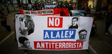 Demonstrierende Mapuche