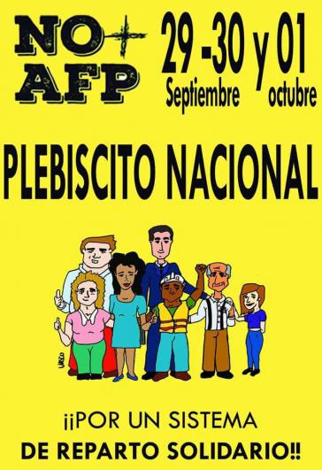 Aufruf zum Plebiszit über das private System der Altersvorsorge in Chile