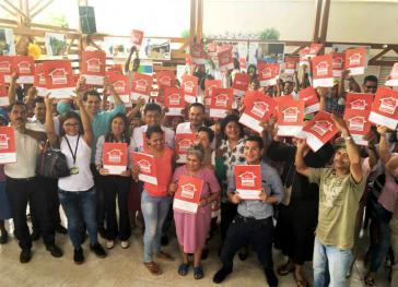 Nach 16 Jahren haben 155 Familien im Department Putumayo, Kolumbien, Landtitel erhalten