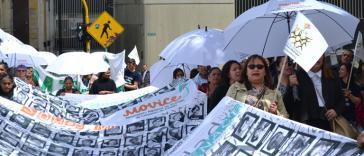 Protest gegen Straflosigkeit in Kolumbien. Die Änderungen der Jep zeigen den mangelnden Willen des Staats, schwere Menschenrechtsverbrechen zu untersuchen