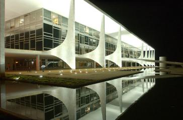 Regierungssitz Palácio do Planalto in Brasília, eines der Bauwerke in Brasilien