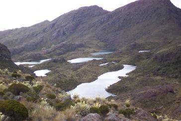 Die sieben Seen im Schutzgebiet Paramo de Santurbán. Das Verfassungsgericht von Kolumbein hat dort jeglichen Bergbau untersagt